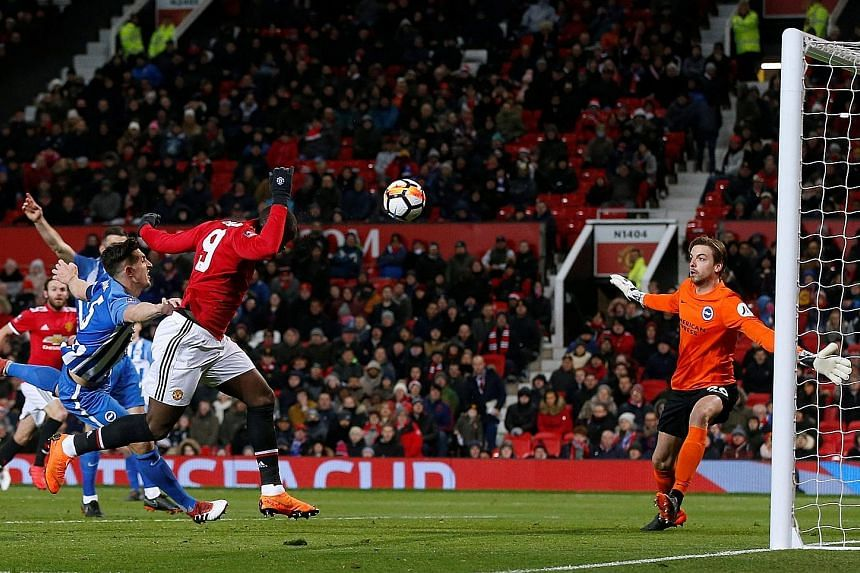 Romelu Lukaku opening accounts for Manchester United in their 2-0 win over Brighton. Jose Mourinho had hinted before Saturday's game that his stars were not up to the mark and he left Paul Pogba and Alexis Sanchez out.