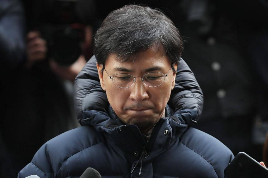 """Mr Ahn Hee Jung said the sex was """"consensual"""", in comments to reporters before being questioned by prosecutors."""