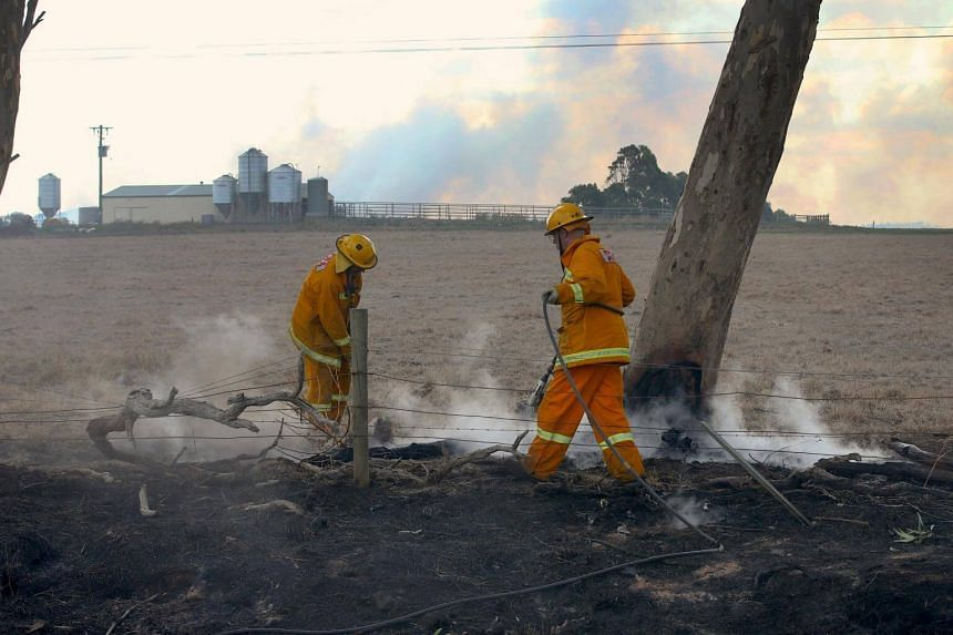 Bushfires have caused extensive damage in rural areas of Australia's Victoria and New South Wales.
