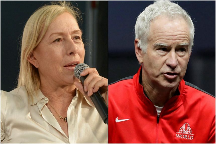 Martina Navratilova said she was paid around £15,000 (S$27,552) for her role as a commentator at Wimbledon, while fellow presenter John McEnroe's pay packet was between £150,000 and £199,999.