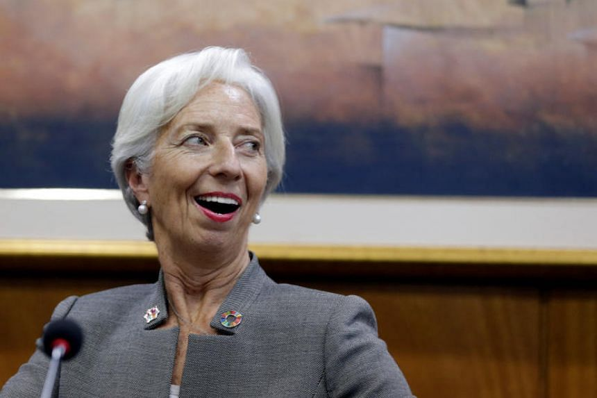 Christine Lagarde, Managing Director of the International Monetary Fund, attends a news conference at Paraguayan Central Bank in Asuncion, Paraguay on March 14, 2018.