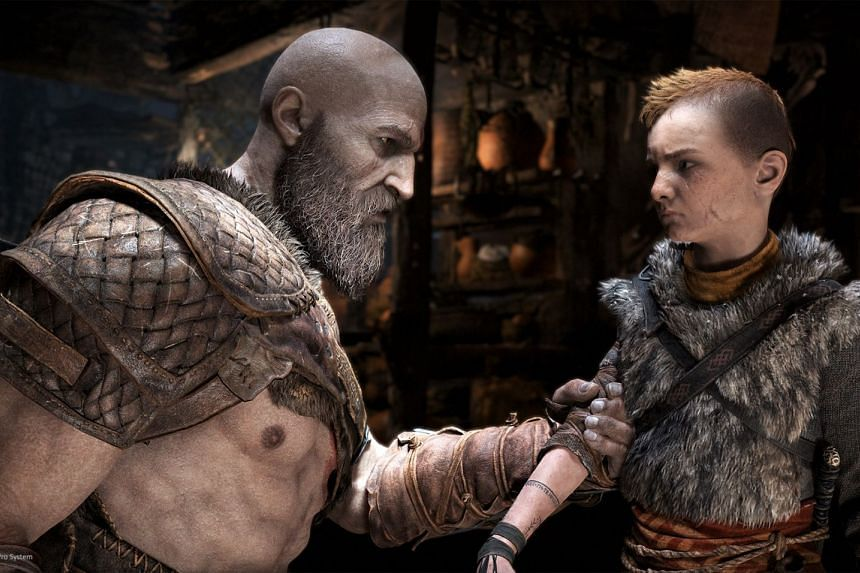 Weary Bearded Kratos Returns In New God Of War Game Games