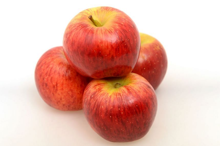 Smitten apples from New Zealand. PHOTO: ST FILE