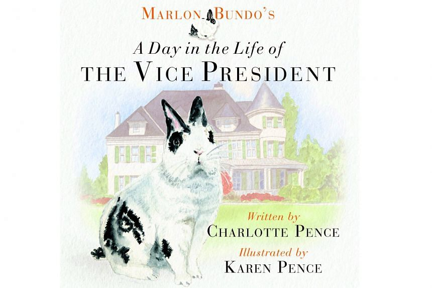 United States Vice-President Mike Pence's wife Karen (with the family rabbit Marlon Bundo) illustrated children's book Marlon Bundo's A Day In The Life Of The Vice-President.