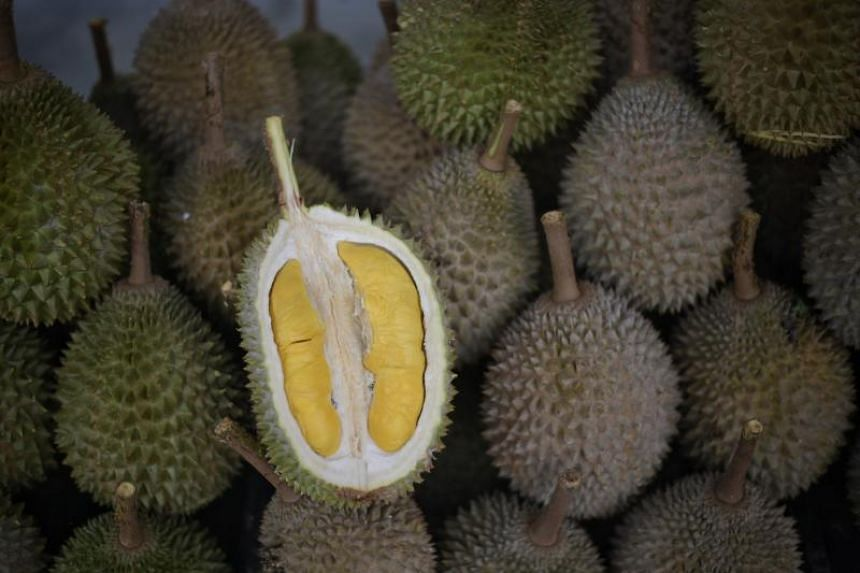 Prices for durians have fallen by as much as 40 per cent within a month.