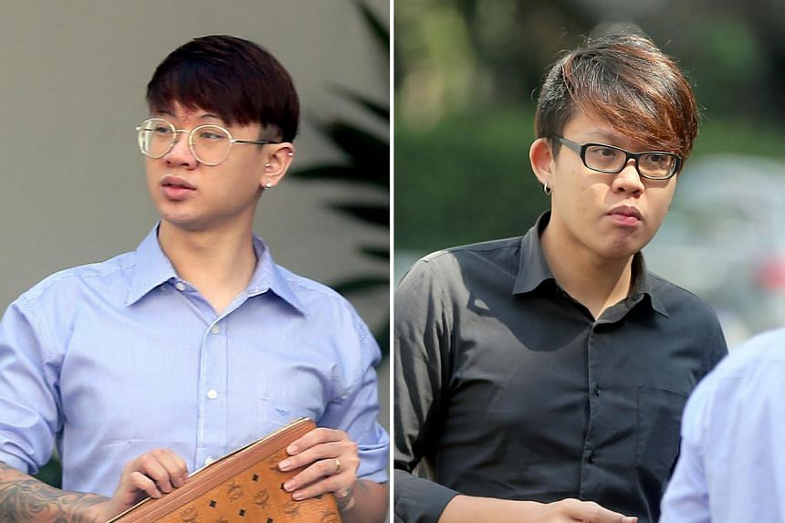 Ng Shiuh Shao (left) was sentenced to two years' jail and his brother Shiuh Leong (right) was given nine months' jail for assaulting a Malaysian man who used to date their mother.