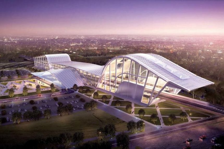 An artist's impression of the Bandar Malaysia station, the first on the future Kuala Lumpur-Singapore High-Speed Rail.