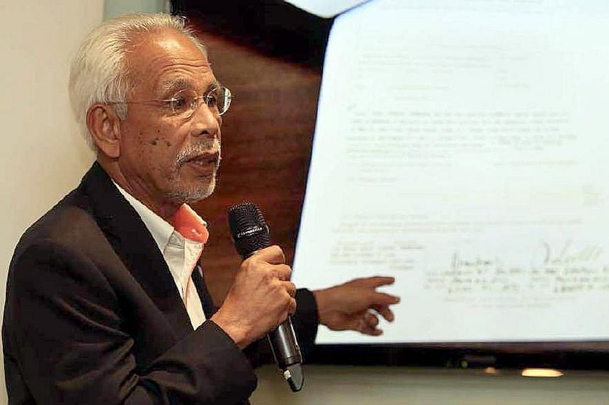 """Mr Shahrir Samad at a recent media conference on Felda land in Kuala Lumpur. He was called upon to rescue the scandal-hit Felda in January last year. The six-term lawmaker is regarded as a Johor """"icon""""."""