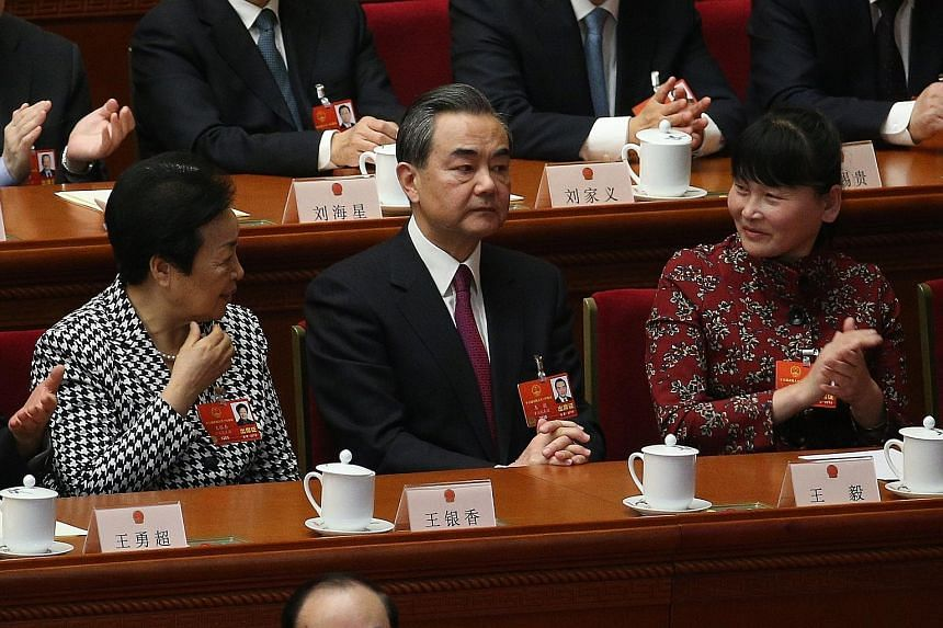 Foreign Minister Wang Yi has been promoted to state councillor - a position just below that of vice-premier - while retaining his current portfolio.