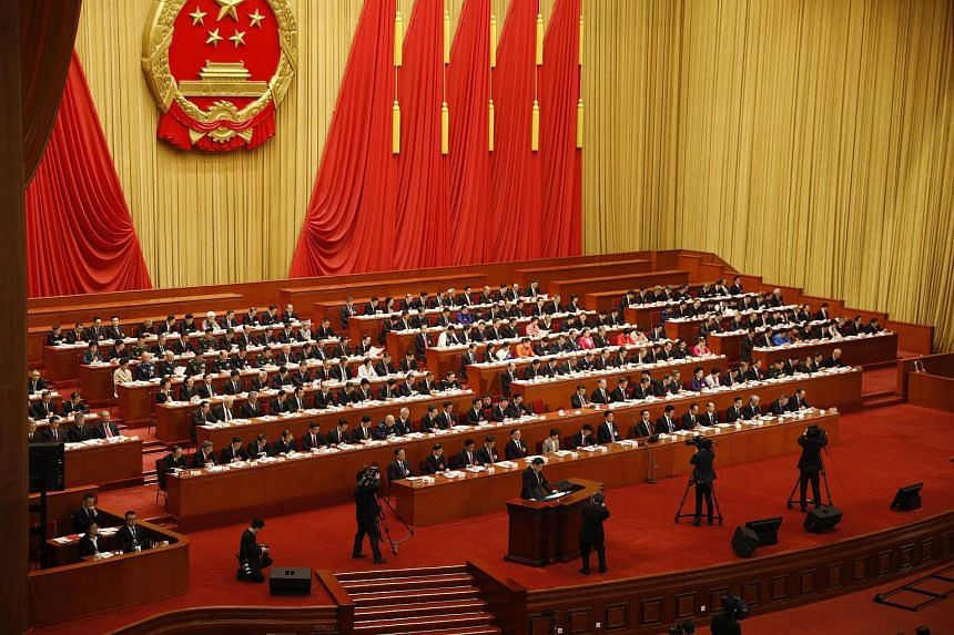 Chinese President Xi Jinping delivering a speech during the closing of the first session of the 13th National People's Congress at the Great Hall of the People in Beijing, China, on March 20, 2018.