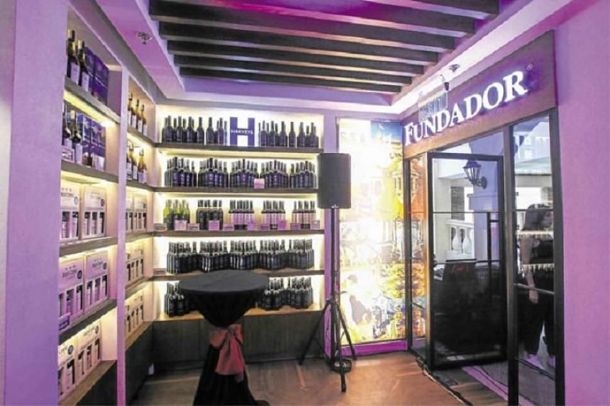 Get a drink and grab a bottle, or four, at Fundador Cafe.