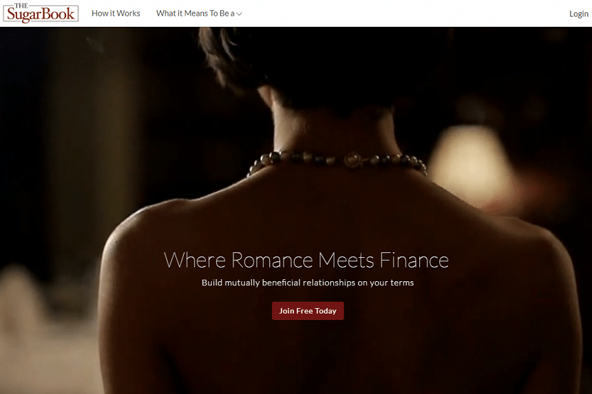 The website thesugarbook.com, which was launched in December 2016, is known for its money-for-love dating platform.