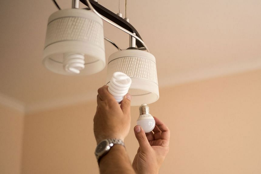 LED bulbs use up to 85 per cent less electricity, and last up to five times longer. Changing your compact fluorescent light or incandescent bulbs to LED can help to reduce your electricity bills. PHOTO: VOLODYMYR PLYSIUK/SHUTTERSTOCK.COM