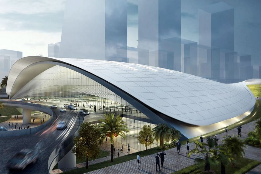 An artist's impression of the High Speed Rail Terminal in Jurong East. The new law supports the development of the future Kuala Lumpur-Singapore High-Speed Rail, and the Singapore-Johor Rapid Transit System link.
