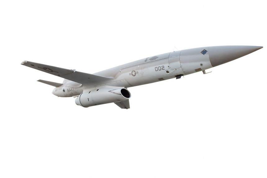 A Kratos Mako drone is shown in this undated photo provided on March 19, 2018. Kratos Defense & Security Solutions Inc and Textron are two potential beneficiaries of the rule changes.