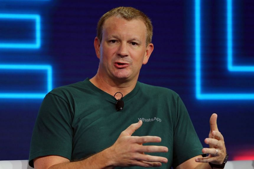 WhatsApp co-founder Brian Acton speaking in 2016 at the WSJD Live conference in the US.