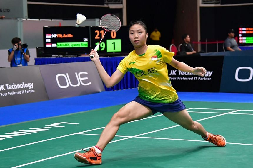 Women's singles player Yeo Jia Min, 19, is one of the youngest members of the team.