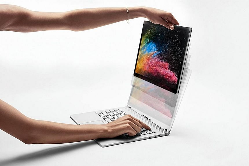 The Microsoft Surface Book 2 can be used for graphics editing or gaming when attached to its keyboard with a dedicated graphics chip.