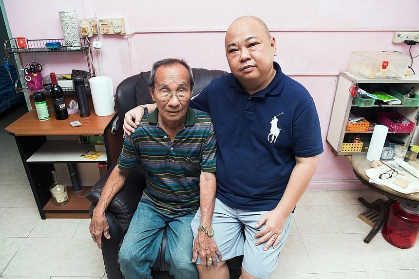 Both Mr Wong Siak Wan and his son Jack are coping well, more than two years after the transplant.