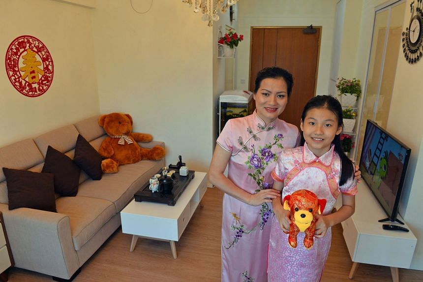 Ms Guo's home is a place where she completely relaxes with family. PHOTO: CHONG JUN LIANG