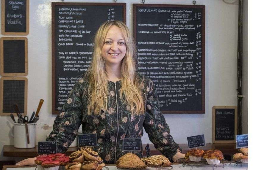 Pastry chef Claire Ptak, owner of Violet Bakery in Hackney, London. The bakery has been chosen by Britain's Prince Harry and his fiancee Meghan Markle to make a lemon elderflower cake for their wedding in May 2018.