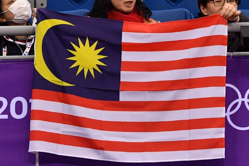 File Photo Showing Supporters Holding The Malaysian Flag During The Pyeongchang  Winter Olympics On Feb