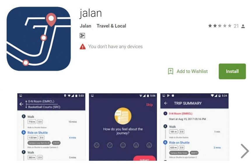 The app uses real-time information and predictions of traffic conditions to plan different routes based on time and cost.