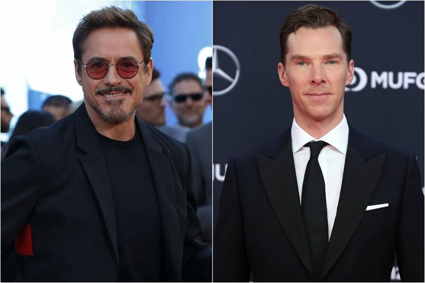 Avengers: Infinity War stars Robert Downey Jr (left) and Benedict Cumberbatch will be walking the red carpet at a public fan event on April 16 at the Marina Bay Sands integrated resort.