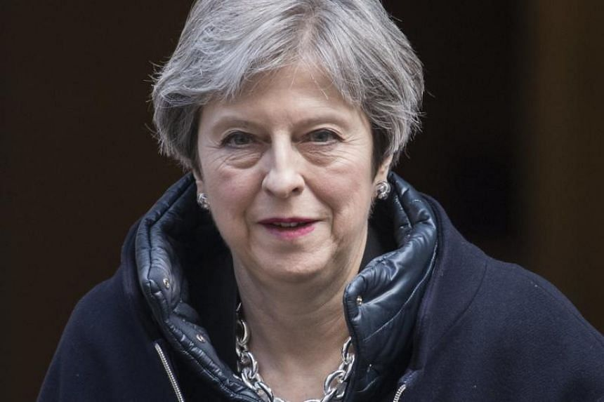 Prime Minister Theresa May leaves 10 Downing Street in Britain on March 21, 2018.