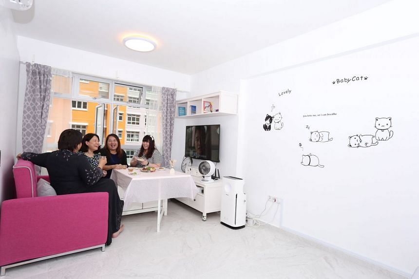 Ms Jeshlyn Wong bought her two-room flat under the Single Singapore Citizen Scheme. PHOTO: HDB