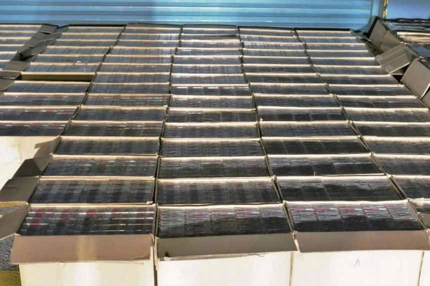 Singapore Customs officers conducted an operation in the vicinity of the Jurong Port on March 30, 2016, and recovered a total of 10,500 cartons of duty-unpaid cigarettes from a white truck.