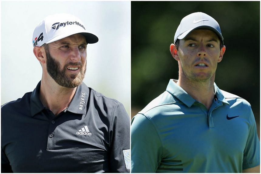 Golfers Dustin Johnson (left) and Rory McIlroy, who suffered defeats at the World Golf Championship (WGC) Dell Technologies Match Play.