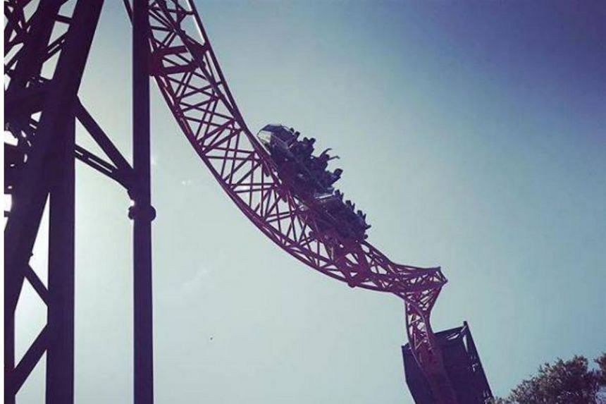 A generic photo of the BuzzSaw roller coaster at Australia's Dreamworld. Six people were left stranded on the roller coaster for 15 minutes after it came to a sudden halt on March 22, 2018.