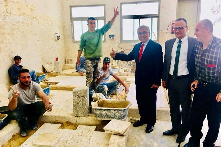 Singapore's Representative to the  Palestinian National Authority, Mr Hawazi Daipi, visited a vocational training school in Beit 'Ur Al Tahta village in Ramallah, which offers courses in fields such as fashion design, welding, masonry, electrical wor