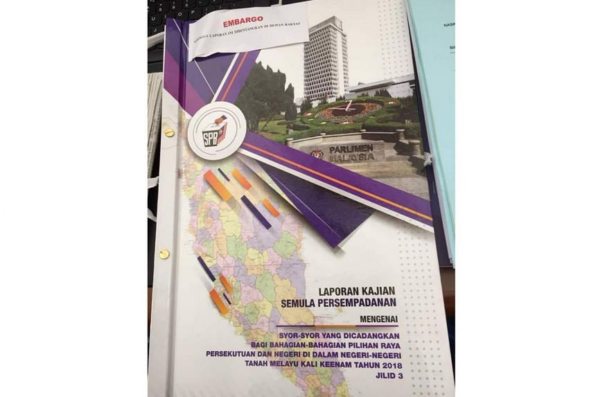 The delineation report has been placed on the tables of lawmakers, but MPs have been told they were not allowed to read it until the embargo is lifted.