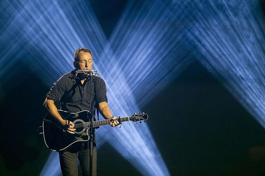 Bruce Springsteen performing at the Invictus Games 2017 in Canada. The star has extended his Broadway show till the end of this year because of audience demand.
