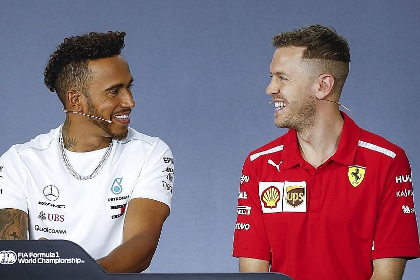 Mercedes' Lewis Hamilton and Ferrari's Sebastian Vettel were chummy at their press conference ahead of today's practice sessions for the Australian Grand Prix. It was a far cry from their heated battles on and off the track last season.