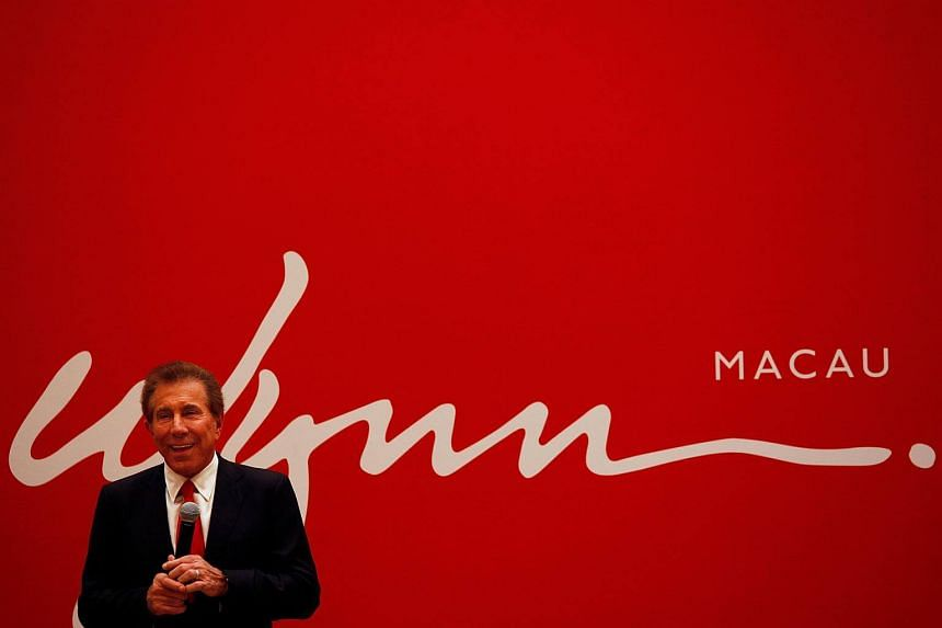 A file photo of US casino magnate Steve Wynn during a news conference in Macau, on June 5, 2012.