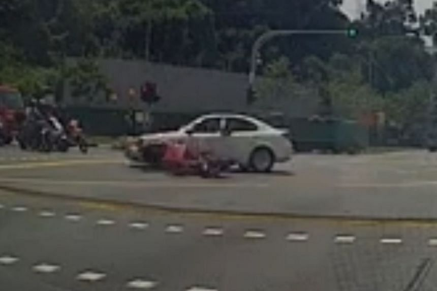 The accident occurred at the junction of Bukit Batok Street 23 and Bukit Batok Street 25 at about 2pm on March 21, 2018.