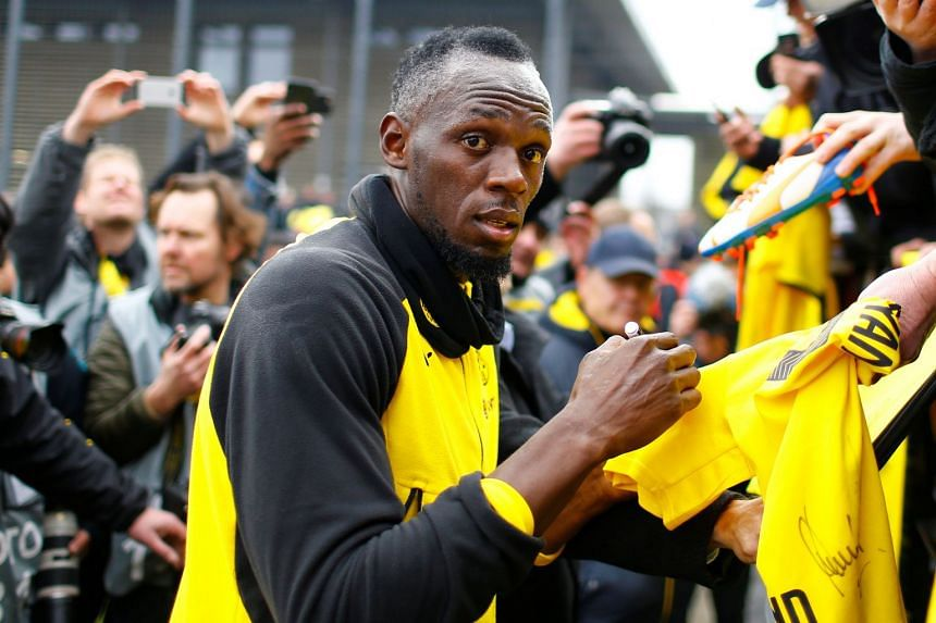 Multiple Olympic sprint champion Usain Bolt joked after a charity match on March 22, 2018, that he hoped his Dortmund appearance would lead to a contract with the Premier League club.