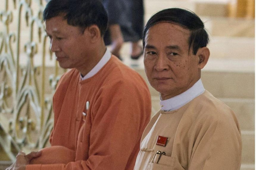 Win Myint (pictured) was the overriding favourite to take over the role when he resigned from his position as lower house speaker shortly after president Htin Kyaw abruptly stepped down on March 21, 2018.