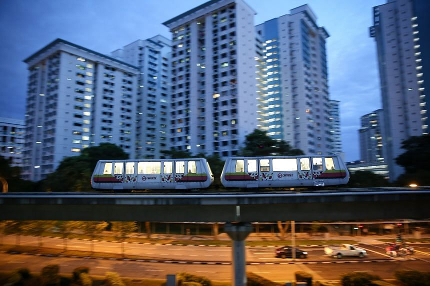 The maintenance works on the Bukit Panjang LRT network include the replacement of sections of the power rail as well as the replacement of track switch components.