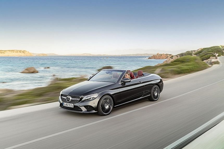 Mercedes-Benz has unveiled the revised C-class coupe and cabriolet