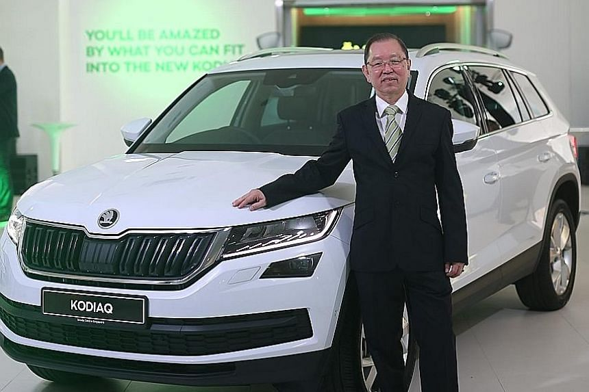 Volkswagen Group Singapore managing director Ricky Tay says the Skoda Kodiaq is one of four models that it will offer here.