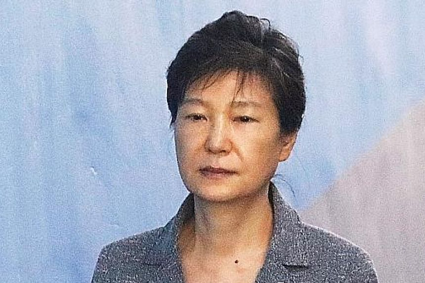 ROH TAE WOO: 1988-1993 Convicted on charges of corruption and sedition, he received a 221/2-year jail sentence in 1996, and a presidential pardon in 1997. LEE MYUNG BAK: 2008-2013 Arrested yesterday for bribery, embezzlement and tax evasion. He is ac