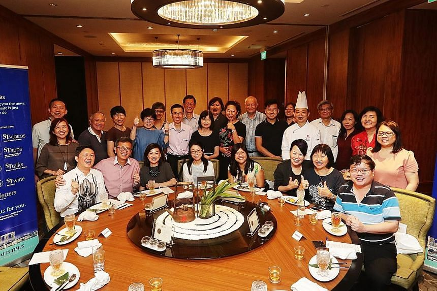 Straits Times subscribers and their partners enjoying a tea-pairing dinner at Orchard Hotel's Hua Ting Restaurant on Thursday as part of the ST+ news with benefits rewards programme.