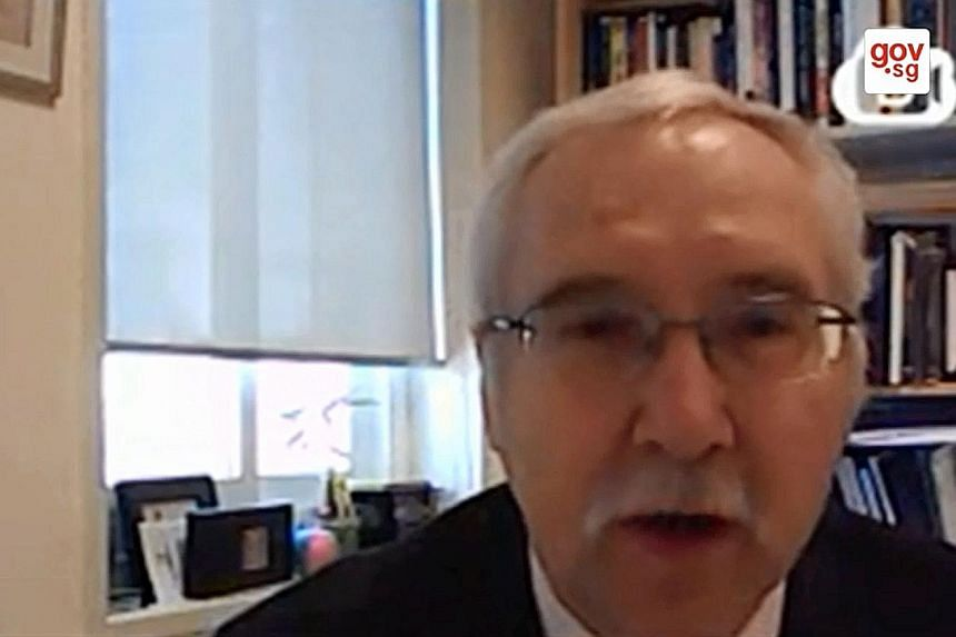 Israel-based academic Gerald M. Steinberg, speaking via video conference, said HRW selectively looks for evidence that proves its case.