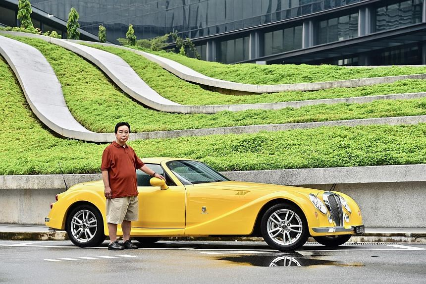 Mr Kenny Tham likes the Mitsuoka Himiko because it is a modern car with a retro look.