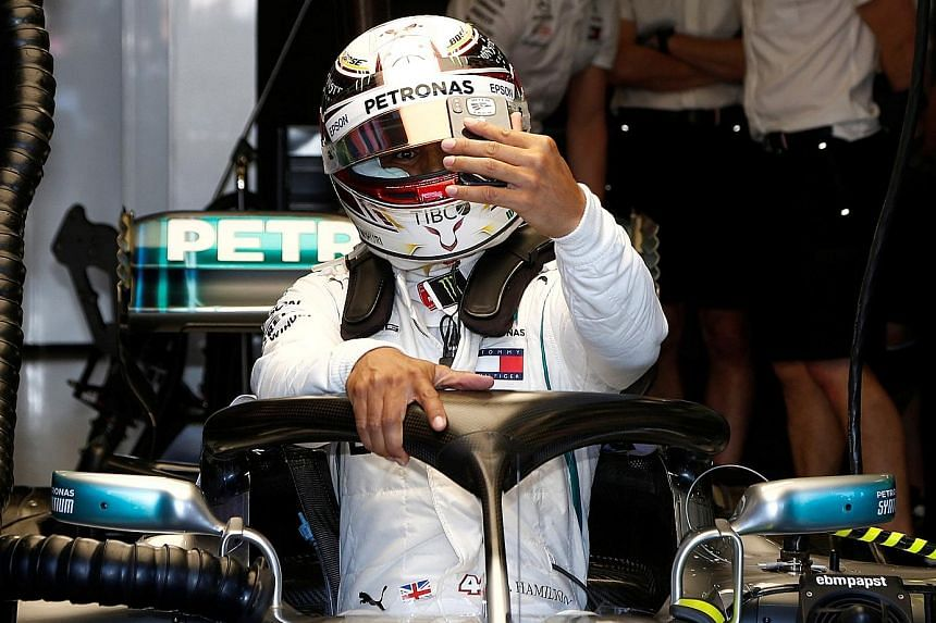 World champion Lewis Hamilton was fastest in yesterday's practice sessions with his 1min 23.931sec.