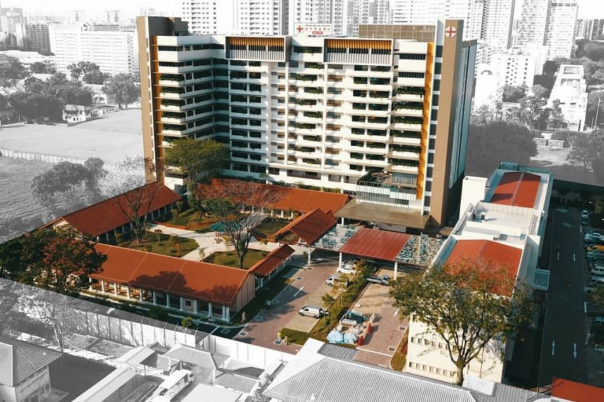 Kwong Wai Shiu Hospital's redeveloped Serangoon Road facilities include a new 12-storey nursing home with more than 600 beds, a senior care centre, a traditional Chinese medicine centre, the Academy of Chinese Medicine Singapore and a heritage gall